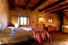 Sextantio Albergo Diffuso is a medieval town revived into a design hotel nestled between the Corno Grande peak and the sandy beaches of the Adriatic.