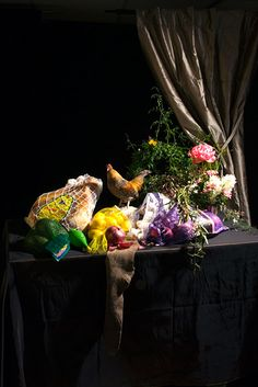 Still Life of Rooster and Proscuitto, 2009