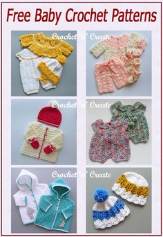 Free baby crochet patterns on crochetncreate, can be made in various sizes using different hooks All Free Crochet, Cute Crochet, Crochet Motif, Crochet Patterns, Basic Crochet Stitches, Crochet Hook Sizes, Crochet Hooks, Baby Blanket Crochet, Crochet Baby