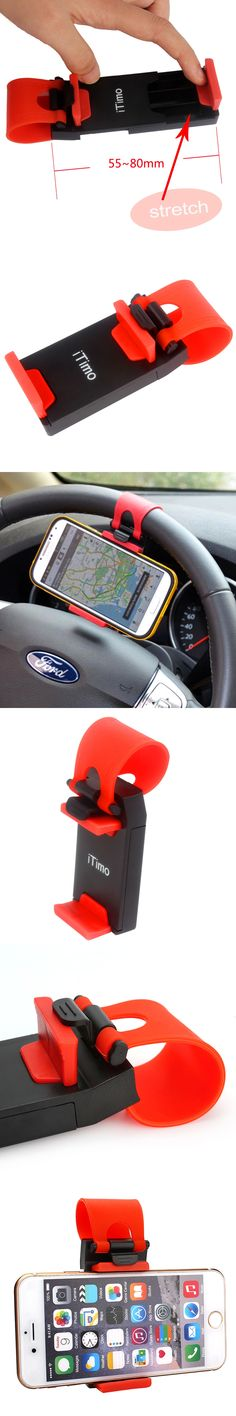 Suporte celular Universal 3.2-5.0 inch Phone Holder for the car Telefon tutucu Automobile Steering Wheel Accessories