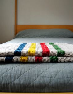 Hudson Bay Inspired Crib Blanket pattern by Purl Soho