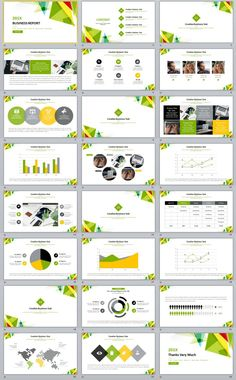 27 green business dynamic powerpoint presentations template aaa
