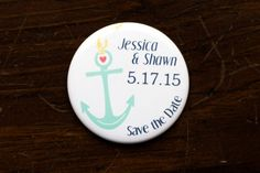 Nautical Wedding Magnet Save the Date Coral by gloriousweirdo