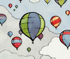 Whale series  Hot Air Balloon Festival 8x10 Print by studiotuesday, $30.00