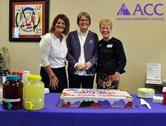 "From left: #ArapahoeCC Director of Extension Campuses Jill Garber, Castle Rock Campus Manager Peggy Quinn and Vice President of Instruction Diane Hegeman, Ph.D. at ""Dessert with Diane"" on Thursday, Oct. 15, 2015, at the ACC Castle Rock Campus. #MoveMountainsACC"