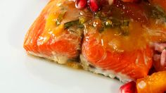 Apricot Glazed Salmon with Pomegranate Salsa