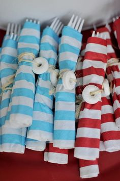 Cute nautical party . Love these napkins ;)