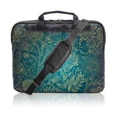 Briefcase Laptop Bag Watercolor Peacock Feather Multi-Functional Ladies Satchel Handbags Fit for 15 Inch Computer Notebook MacBook