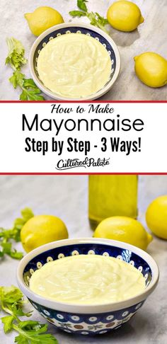 My Homemade Mayonnaise Recipe is easy to make! Learn how to make mayonnaise with 3 methods. #myculturedpalate #mayonnaise #recipe #recipevideo #homemademayonnaise #gaps #keto