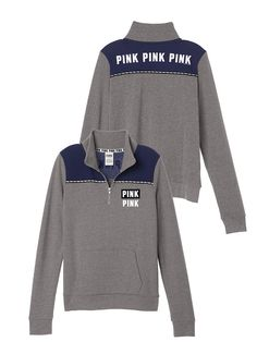 Perfect Quarter-Zip PINK Want this so bad for my birthday Vs Pink Outfit, Pink Outfits, Cute Outfits, Casual Outfits, Victoria Secret Outfits, Victoria Secret Pink, Love Pink Clothes, Fall Clothes, Pink Wardrobe