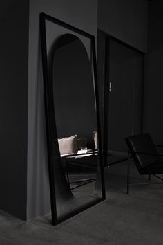 The HANDVÄRK home objects range from the mysterious Shadow Mirror by Aleksej Iskos, to the Spine Rug designed by New York-based fashion designer Camilla Stærk. Nordic Furniture, Danish Furniture, Furniture Design, Floating In Space, Behind The Glass, True Nature, Floor Mirror, Danish Design, Colorful Interiors