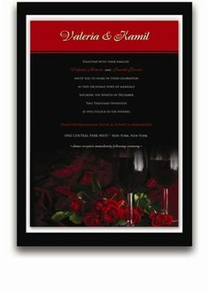 145 Rectangular Wedding Invitations - Red Roses & Red Wine by WeddingPaperMasters.com. $379.90. Now you can have it all! We have created, at incredible prices & outstanding quality, more than 300 gorgeous collections consisting of over 6000 beautiful pieces that are perfectly coordinated together to capture your vision without compromise. No more mixing and matching or having to compromise your look. We can provide you with one piece or an entire collection in a one stop ...