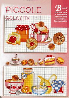 Cross Stitch Fruit, Cross Stitch Kitchen, Cross Stitch Needles, Cute Cross Stitch, Cross Stitch Designs, Cross Stitch Patterns, Cross Stitching, Cross Stitch Embroidery, Types Of Embroidery