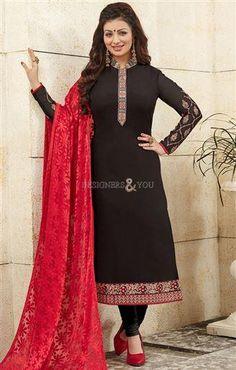 Latest Designer Bollywood  Suit By Ayesha Takia http://www.designersandyou.com/dresses/bollywood-dresses #BollyWood #Design #Straight Suit #StraightSuits