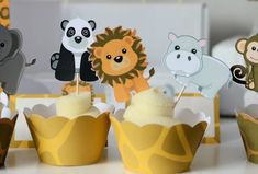 Jungle Party CUPCAKE TOPPERS, Safari Baby Shower, Jungle Theme, Jungle Cake Topper, Safari Theme, Safari Party, Jungle Baby Shower
