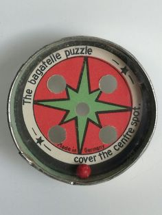 Dexterity puzzle - The Bagatelle puzzle front side (has also a playable backside (same only different colours)