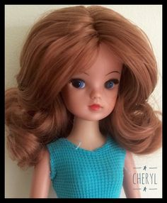 Hard head skinny leg Funtime Sindy rerooted with amoretto nylon