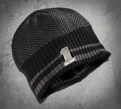 Men's #1 Skull Badge Knit Hat. Keeping that naughty head warm through the winter.