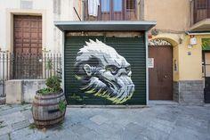 Palermo, Lion Sculpture, Photos, Behance, Statue, Street Art, Street Graffiti, Surrealism, Pictures