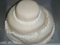 Every time we publish wedding wrecks, we get comments from worried brides afraid their cake will b...
