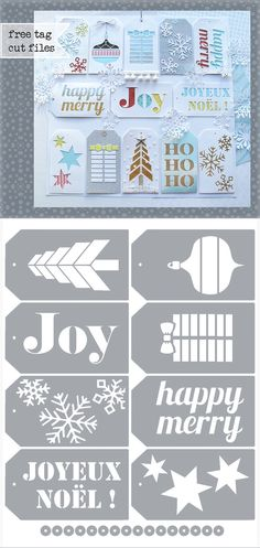Christmas Tags - free Silhouette .studio & .SVG cutting files