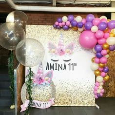 Birthday Balloons Pictures Backdrops Party Ideas 48 Ideas For 2019 Kids Birthday Themes, Birthday Balloons, First Birthday Parties, Birthday Decorations, Party Unicorn, Unicorn Themed Birthday, Girl Birthday, Party Decoration, Balloon Decorations