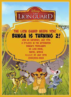 Lion Guard birthday invitation- digital download by NataliesPrintGallery on Etsy