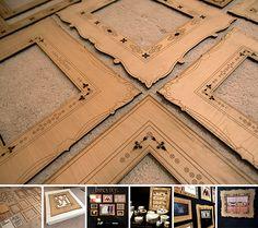 Laser cut wood frames