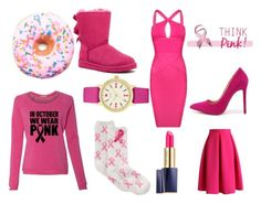 """""""+Pretty in Pink+"""" by alexandra-papazian12 ❤ liked on Polyvore featuring Estée Lauder, Charter Club, Posh Girl, Chicwish, UGG Australia, Iscream, Kate Spade, Liliana, katespade and Donuts"""