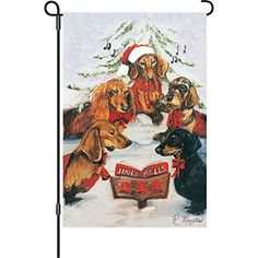 Premier Kites 51707 Garden Brilliance Flag Dachshund Choir 12 by 18Inch -- Click image for more details. This is Amazon affiliate link.