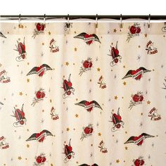 Forever Tattoo Almond Shower Curtain