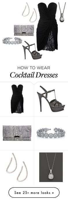 """Untitled #21560"" by edasn12 on Polyvore featuring Vicky Tiel, Bloomingdale's, Yves Saint Laurent, Roberto Coin, Loeffler Randall, women's clothing, women, female, woman and misses"