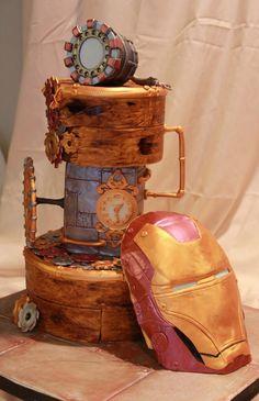 The COOLEST Iron Man Cake EVER! It even glows in the dark!