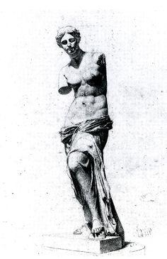 - Copy of Venus de Milo. - Copy of Venus de Milo. Inspirational Artwork, Art Sketches, Art Drawings, Irene Adler, Greek Statues, Roman Sculpture, Desenho Tattoo, Roman Art, A Level Art