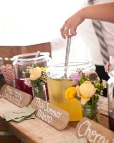 What about a self serve cocktail bar at your summer wedding.....