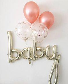 gold foil baby shower balloon
