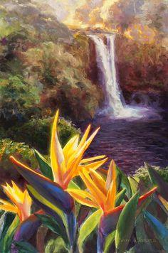 Rainbow Falls Big Island Hawaii Waterfall ~ Karen Whitworth