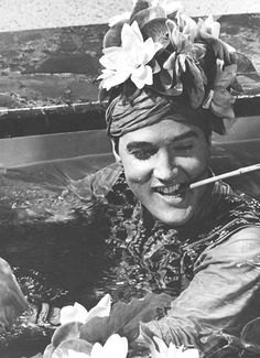 """Elvis on the set of """"Harum Scarum"""", 1965.      Most of my youngest childhood memories have Elvis 8 tracks playing in the background ....   Wish I still had my dads player and tracks ..."""