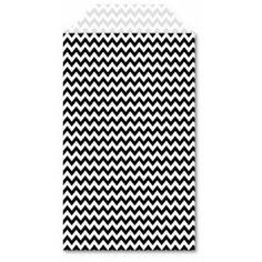 Licorice Chevron Stylish Sacs | 25ct