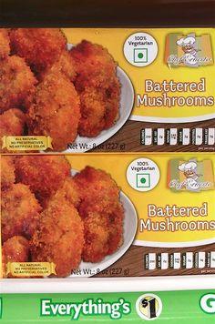 Battered Mushrooms - 14 Affordable Vegan Finds at Dollar Tree - ChooseVeg.com