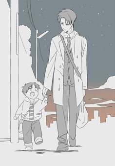 Adorable Baby Eren and Rivaille