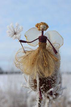 Purple wand fairy - Fairies of knapwell wood from the Spirit of Christmas Fair