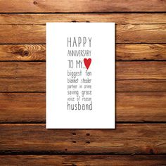 Happy Anniversary to my... Husband by WintsPrints on Etsy, $2.50