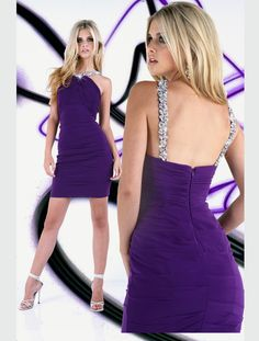 Size 0 Magenta and Size 12 Violet In StockSophisticated jersey knit Xtreme by Impression short prom dress 32210A. Wear this fashionable high neck cocktail dress 2012 to look elegant yet sexy at the big event. A beaded collar halter top reflect glamorous light to this fitted design with eye-catching asymmetrical ruching at the bust. Thick crystal embellishments enhance the luxurious straps at the flirty back. Complete this short prom gown with fancy accessories and evening heels to look…