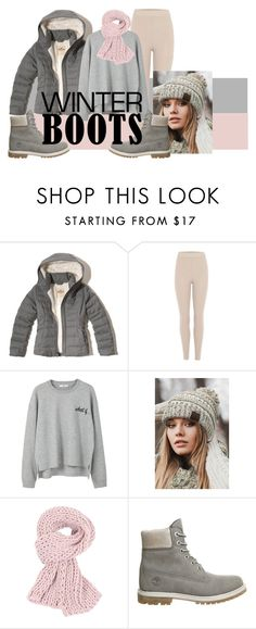 """COZY"" by anacacho ❤ liked on Polyvore featuring Hollister Co., adidas Originals, MANGO, CC, Timberland and winterboots"
