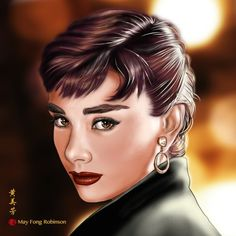 Audrey Hepburn - speed painting by MayFong on deviantART