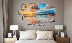 Originali e divertenti adesivi per impreziosire la parete del letto con affascinanti immagini artistiche a effetto tridimensionale