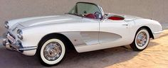 1959 Chevrolet Corvette. How sweet would this be next to the Austin Healy at the show?