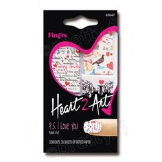 Fing´rs Heart2Art - P.S. I Love You kynsikoristekuvio 3,90€