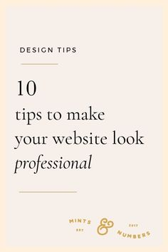How to make your website look professional and presentable. Here are 10 of my be… How to make your website look professional and presentable. Here are 10 of my best tips to design your web pages. Design Websites, Web Design Trends, Web Design Blog, Web Design Quotes, Creative Web Design, Website Design Services, Web Design Company, Blog Designs, Design Blogs